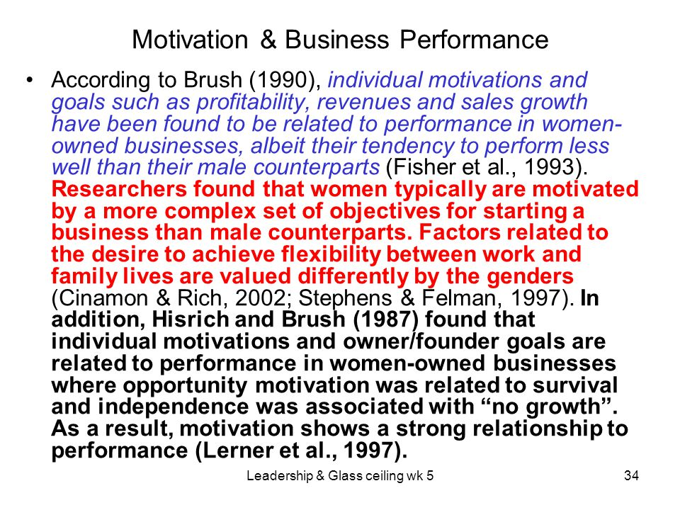 Motivation & Business Performance