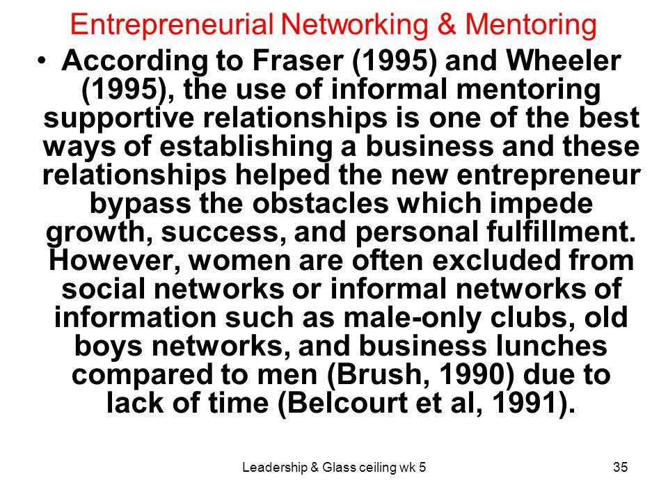 Entrepreneurial Networking & Mentoring