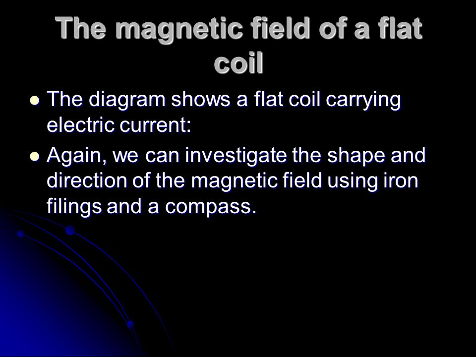 The magnetic field of a flat coil