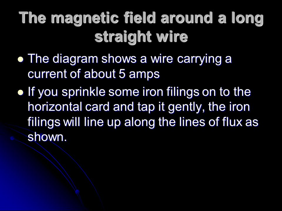 The magnetic field around a long straight wire