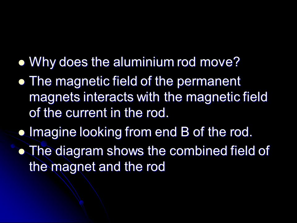 Why does the aluminium rod move