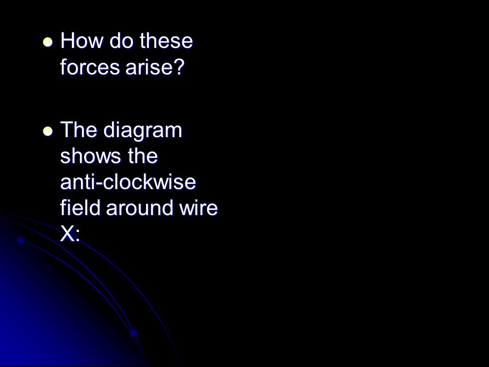How do these forces arise