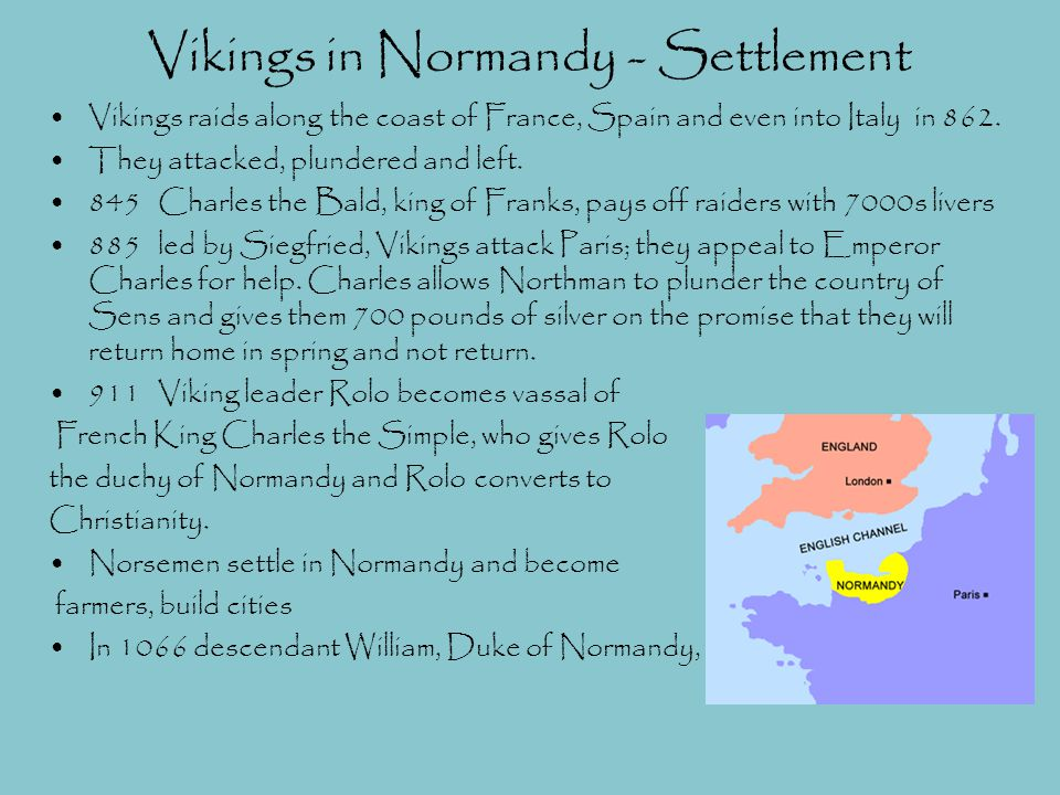 Vikings in Normandy - Settlement