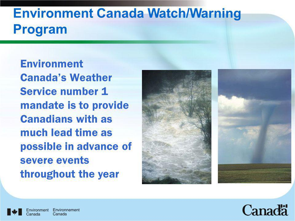 Environment Canada Watch/Warning Program