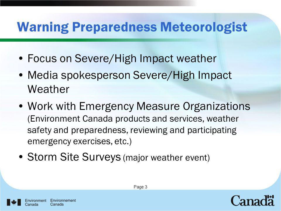 Warning Preparedness Meteorologist