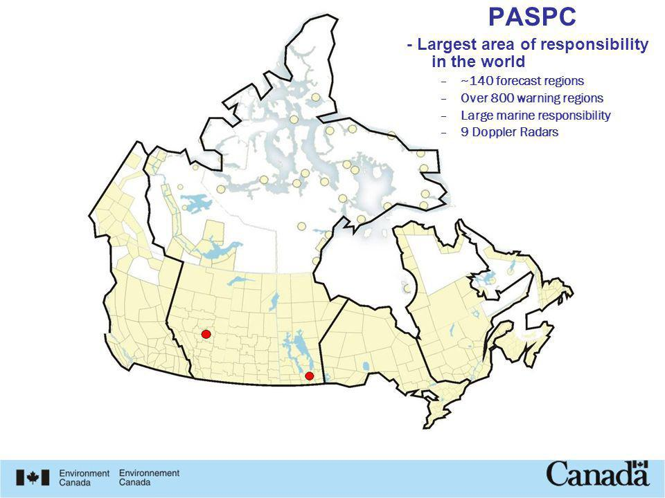 PASPC - Largest area of responsibility in the world