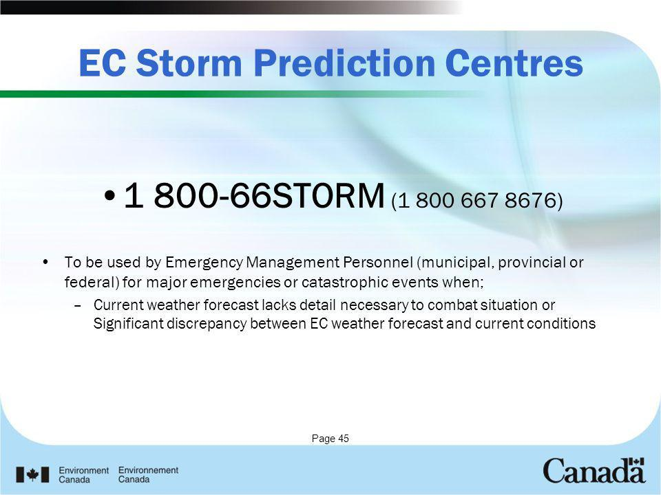 EC Storm Prediction Centres