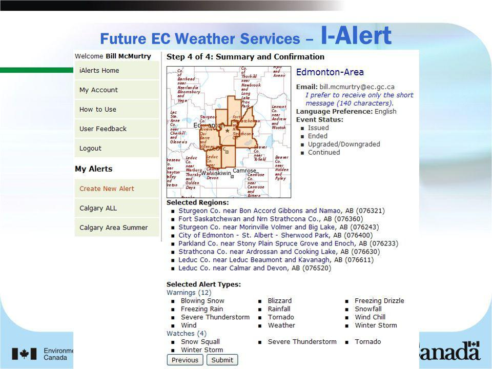 Future EC Weather Services – I-Alert