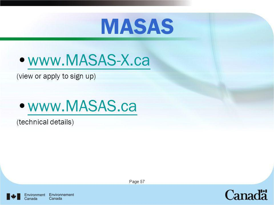 MASAS www.MASAS-X.ca www.MASAS.ca (view or apply to sign up)