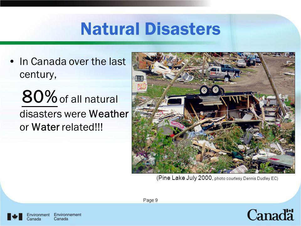 Natural Disasters In Canada over the last century,