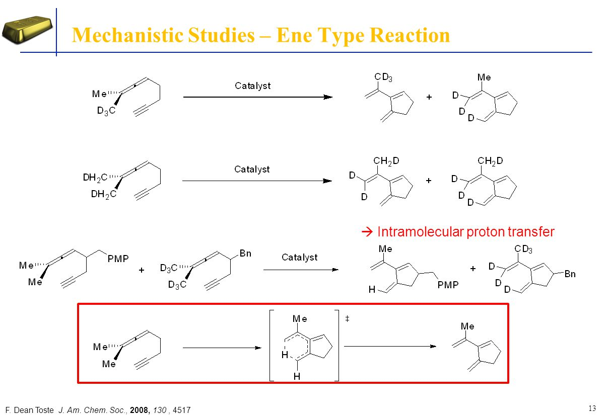 Mechanistic Studies – Ene Type Reaction
