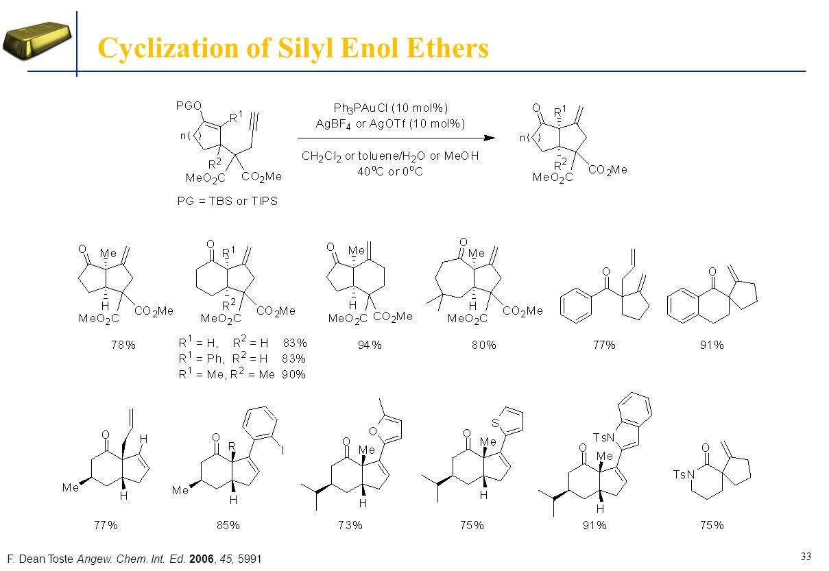 Cyclization of Silyl Enol Ethers