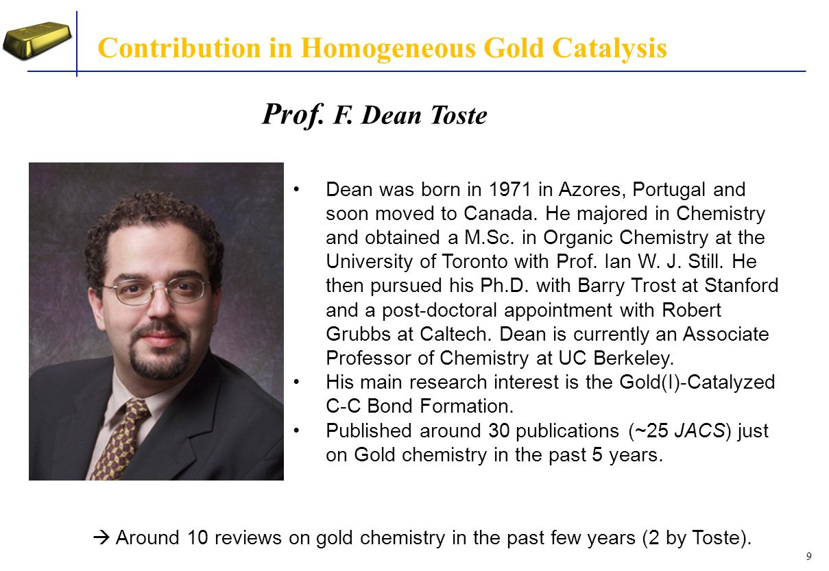 Contribution in Homogeneous Gold Catalysis