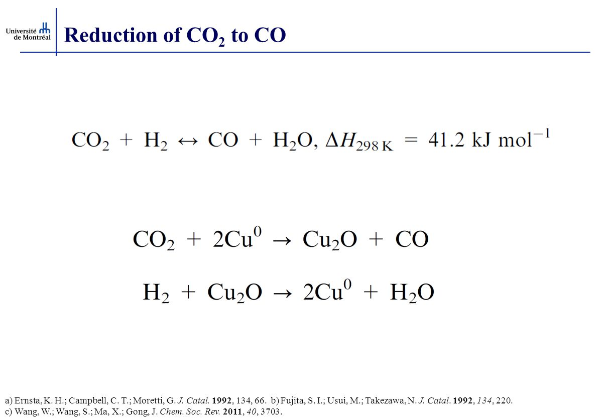 Reduction of CO2 to CO