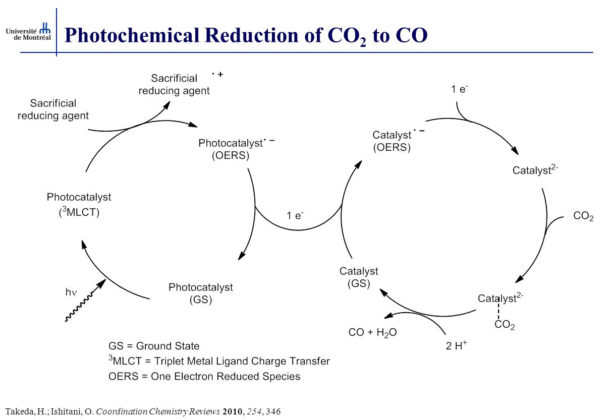 Photochemical Reduction of CO2 to CO