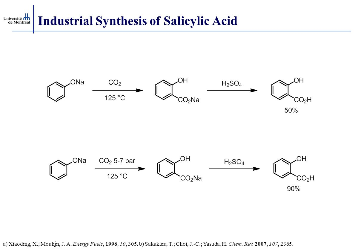 Industrial Synthesis of Salicylic Acid