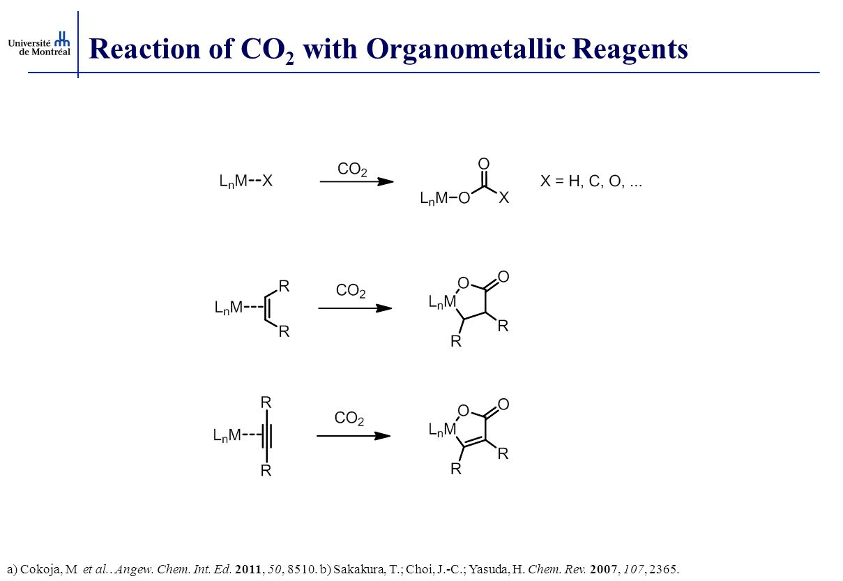 Reaction of CO2 with Organometallic Reagents
