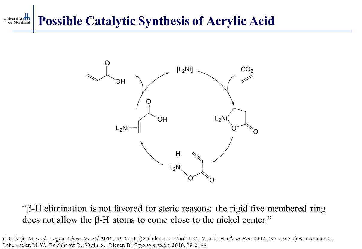 Possible Catalytic Synthesis of Acrylic Acid