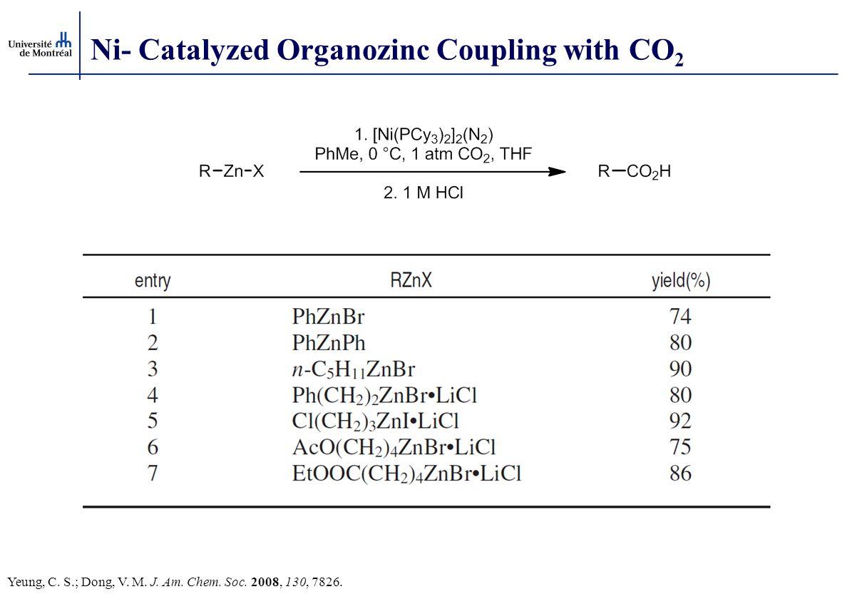 Ni- Catalyzed Organozinc Coupling with CO2