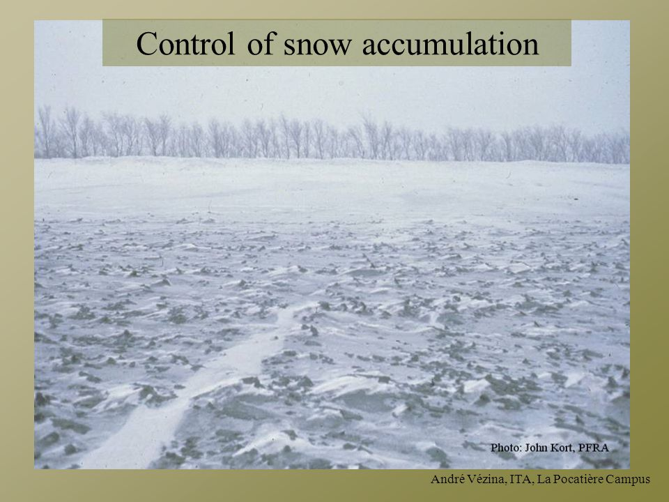 Control of snow accumulation