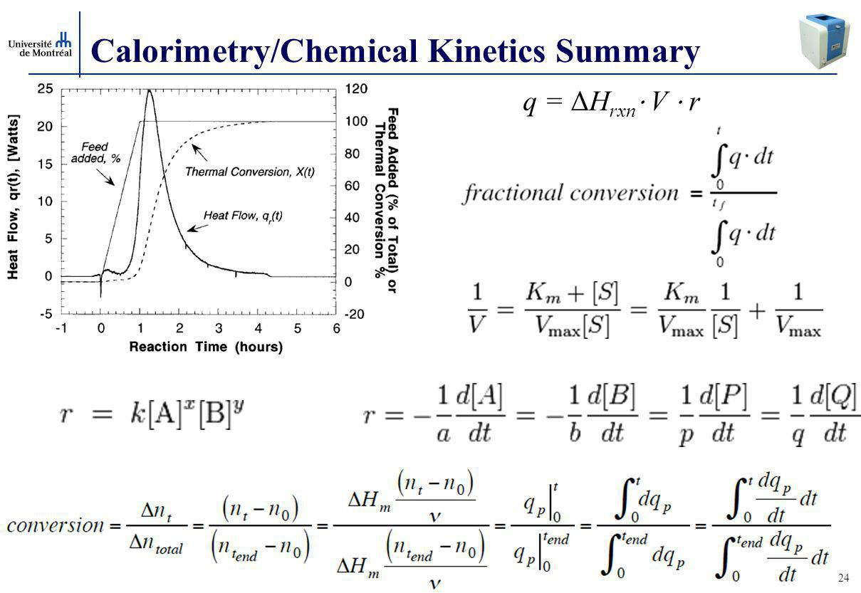 Calorimetry/Chemical Kinetics Summary