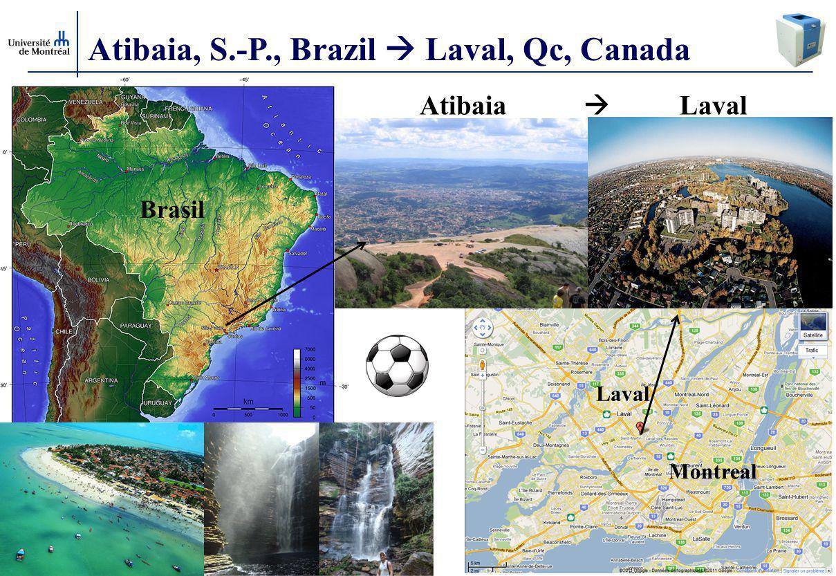 Atibaia, S.-P., Brazil  Laval, Qc, Canada
