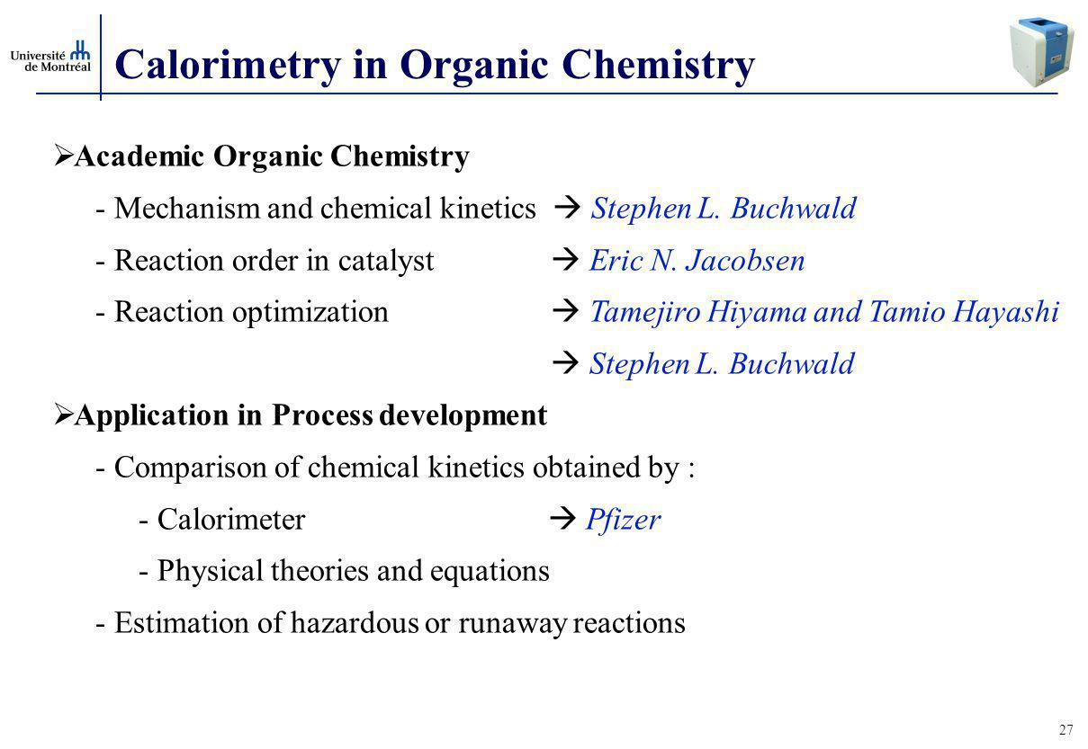 Calorimetry in Organic Chemistry