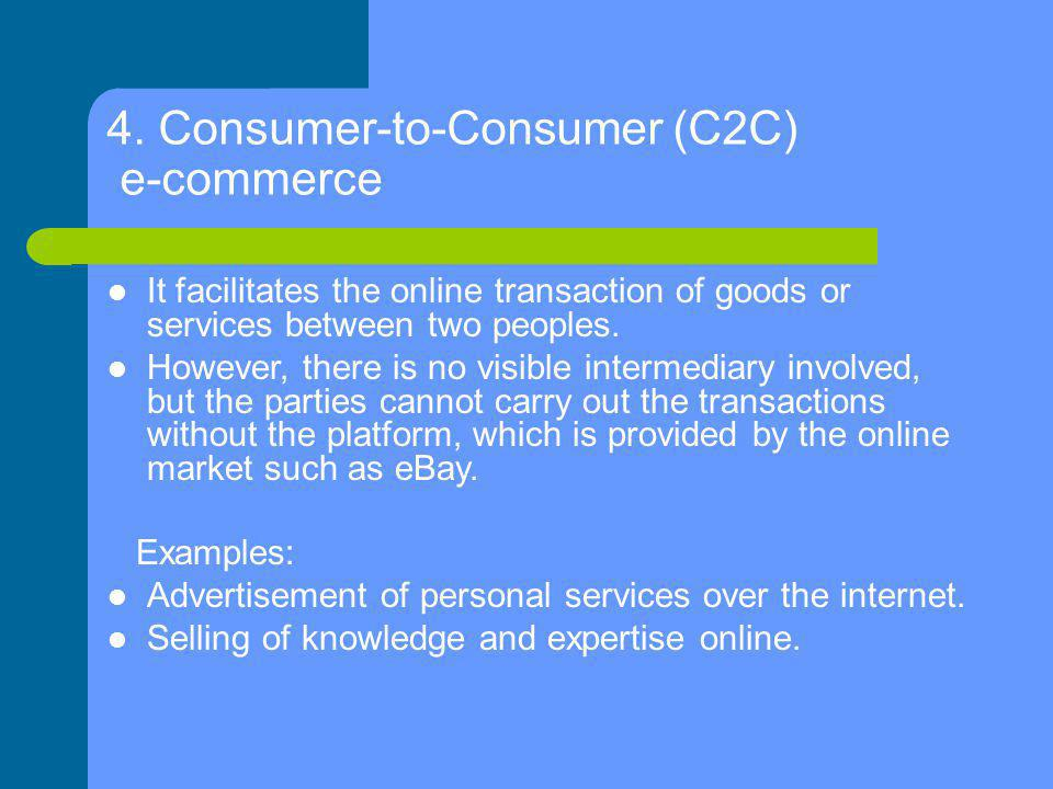 4. Consumer-to-Consumer (C2C) e-commerce
