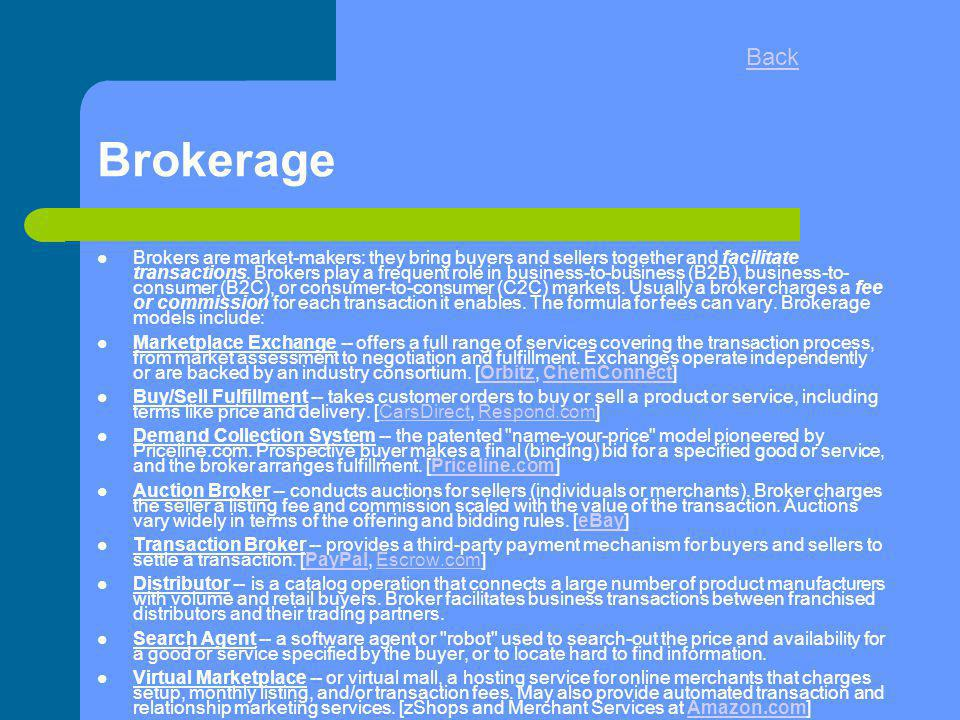 Back Brokerage.