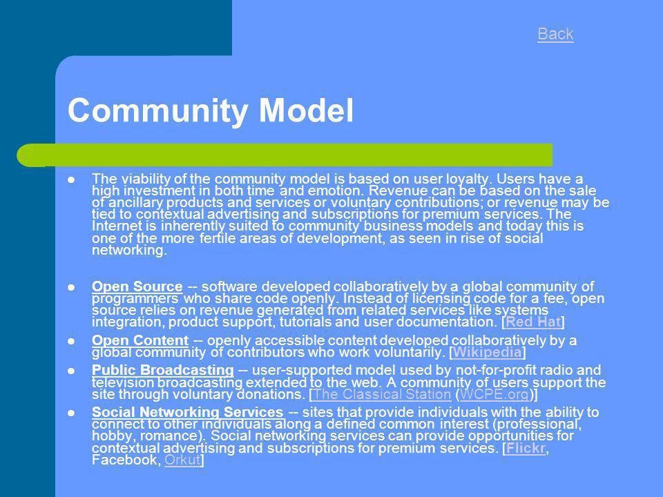 Back Community Model.