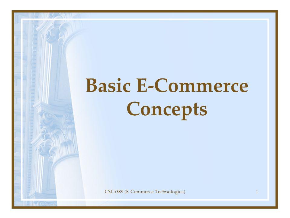 Basic E-Commerce Concepts