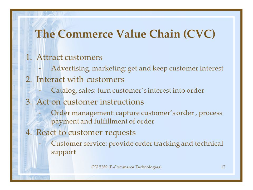 The Commerce Value Chain (CVC)