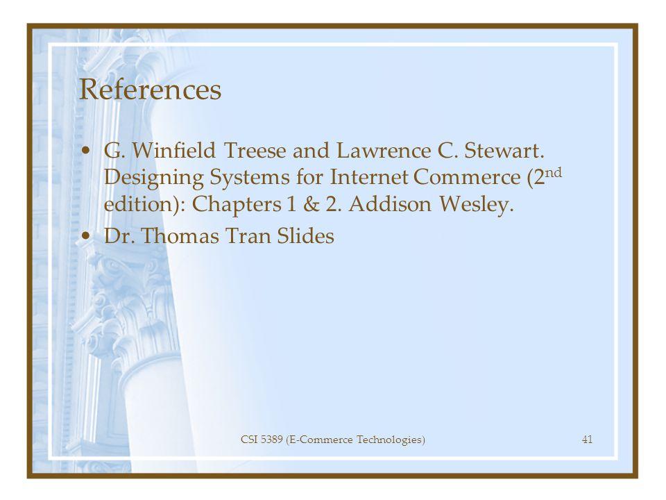 CSI 5389 (E-Commerce Technologies)