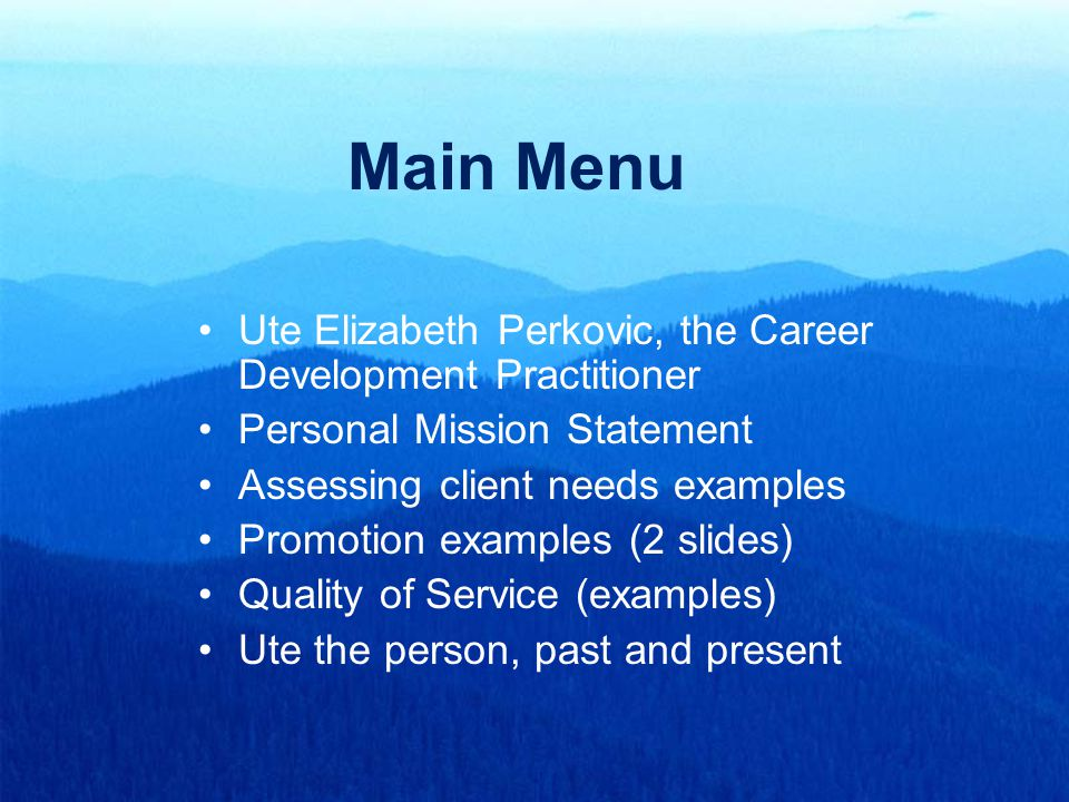 What Is A Personal Career Mission Statement Custom Paper Academic