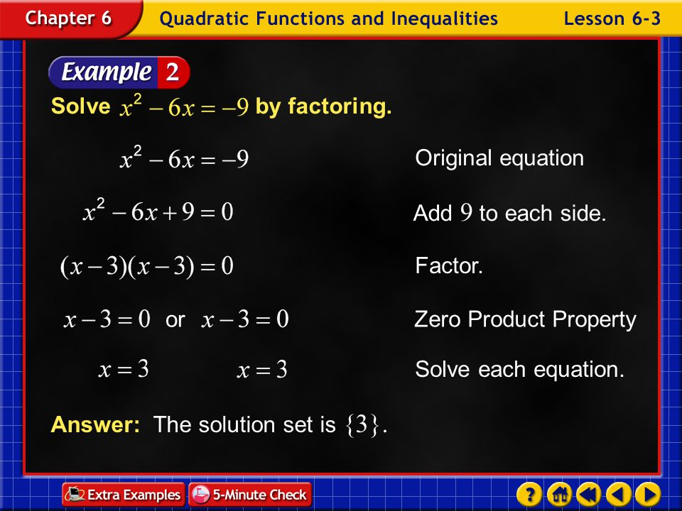 Answer: The solution set is {3}.