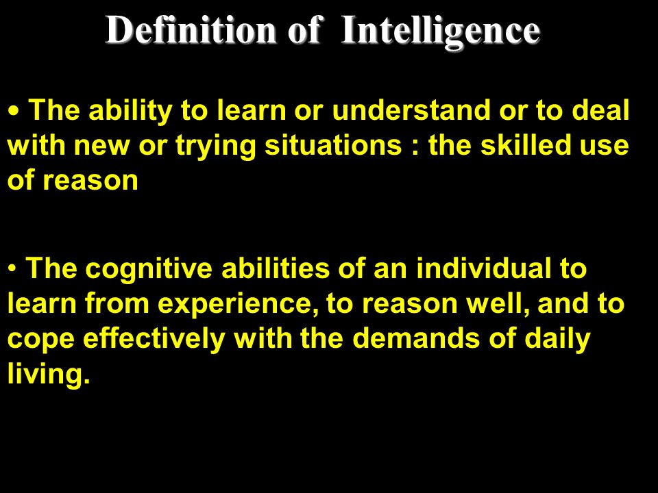 Definition of Intelligence