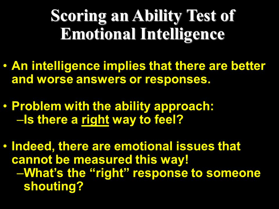 Scoring an Ability Test of Emotional Intelligence