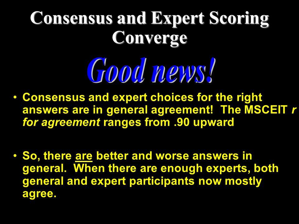 Consensus and Expert Scoring Converge
