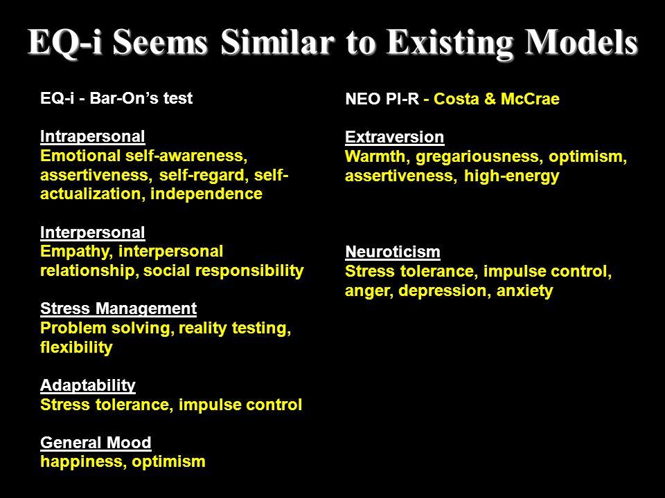 EQ-i Seems Similar to Existing Models