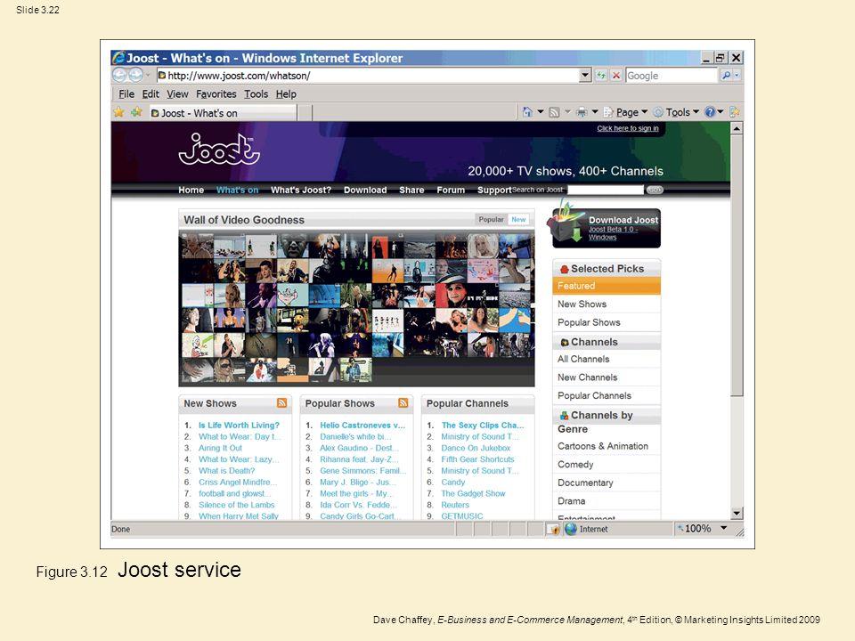 Figure 3.12 Joost service