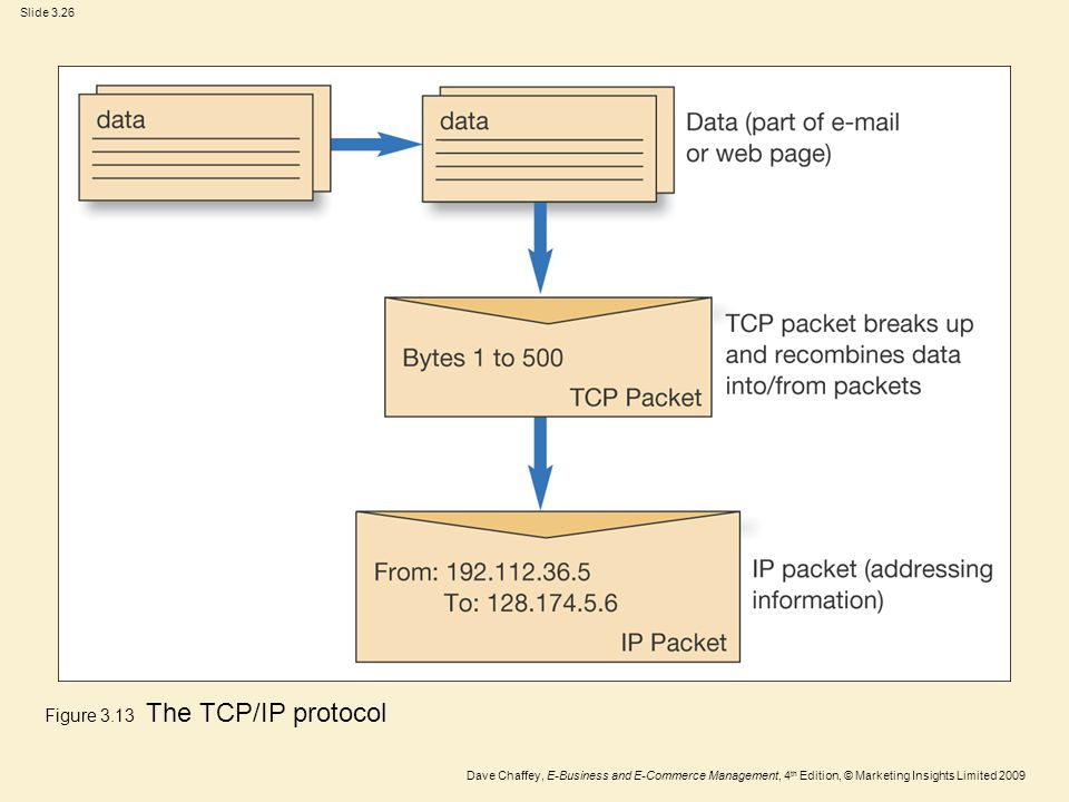 Figure 3.13 The TCP/IP protocol