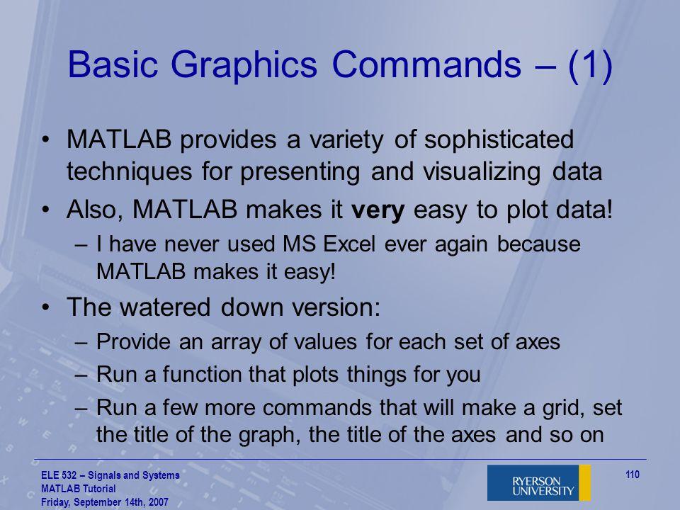 Basic Graphics Commands – (1)