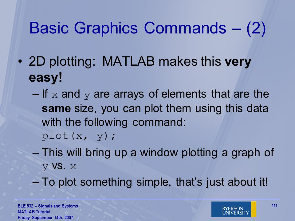 Basic Graphics Commands – (2)