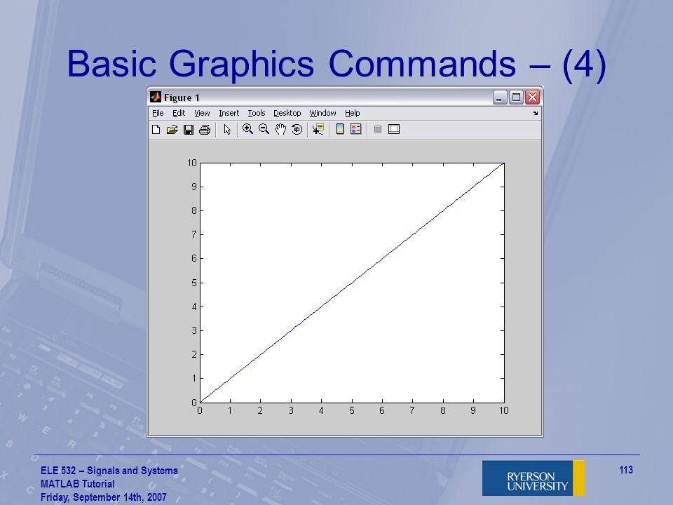 Basic Graphics Commands – (4)