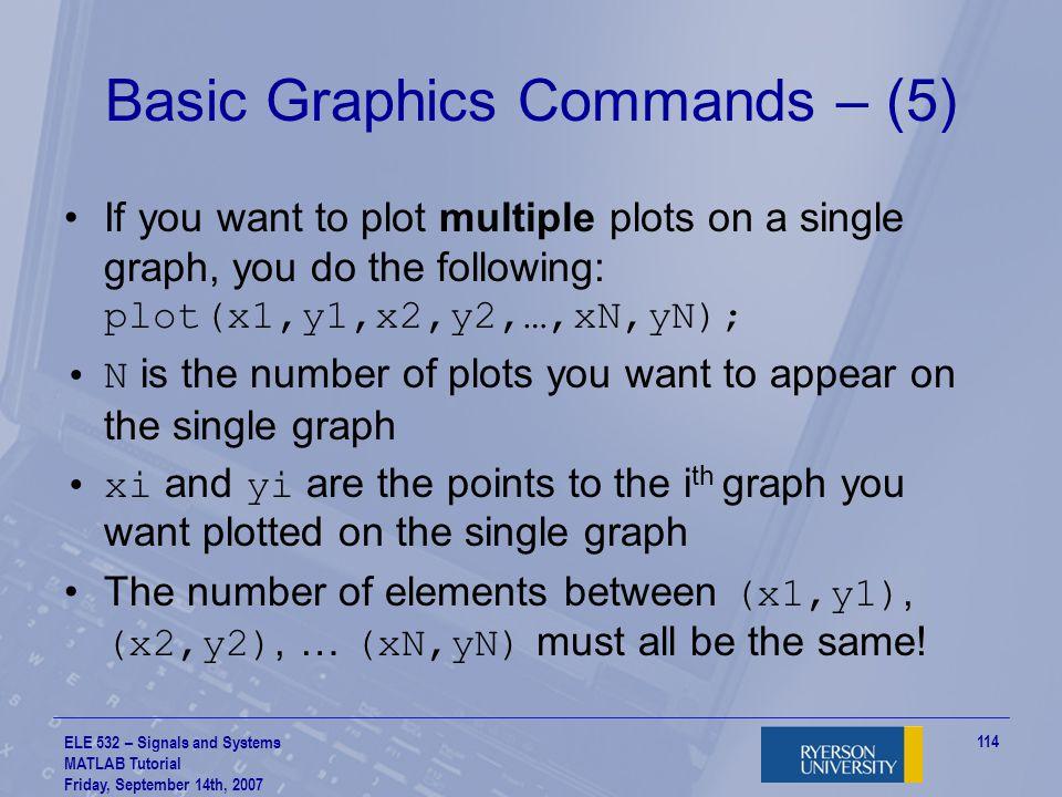 Basic Graphics Commands – (5)