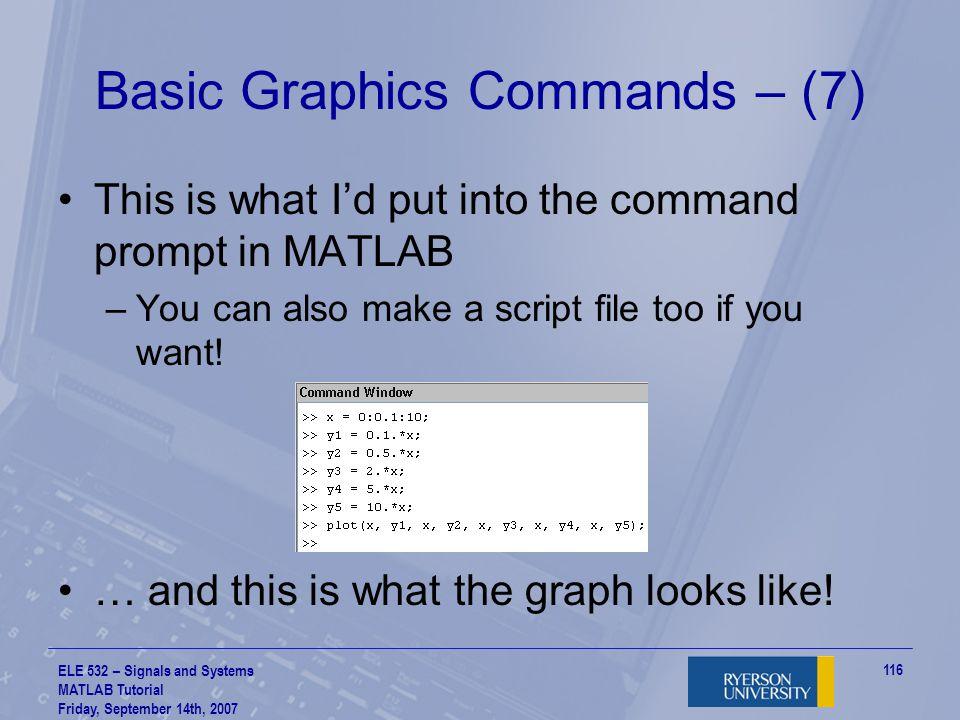 Basic Graphics Commands – (7)