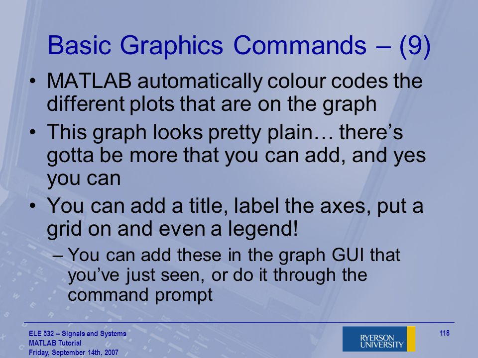 Basic Graphics Commands – (9)