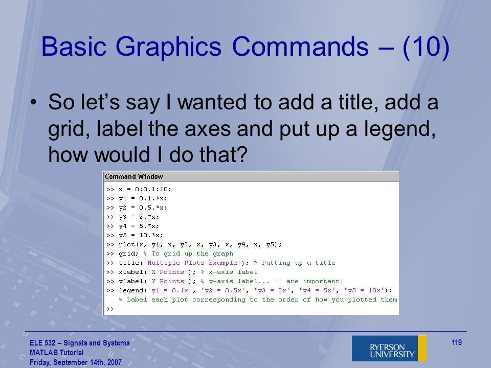 Basic Graphics Commands – (10)