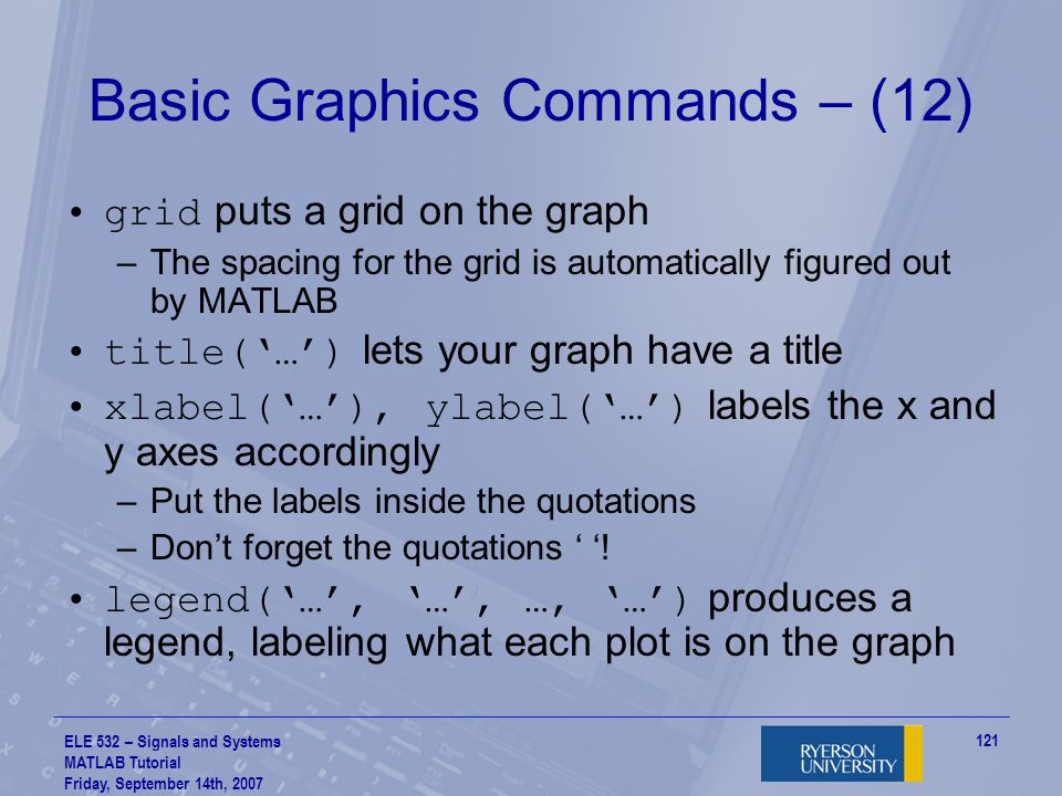 Basic Graphics Commands – (12)