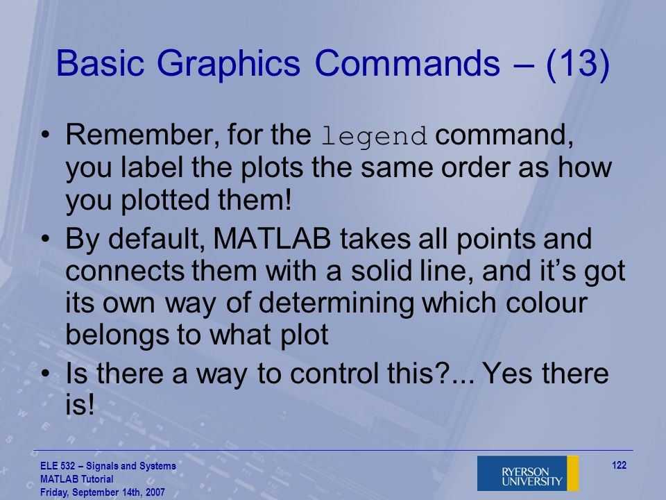 Basic Graphics Commands – (13)